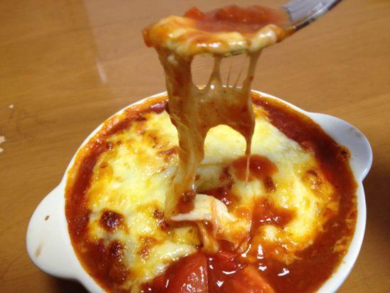 012.とろーりチーズとトマトとカボチャのグラタン出来上がり