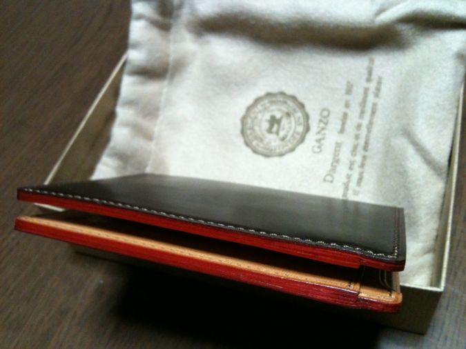 4.GANZO ShellCordovan 財布 切り目本磨きコパ