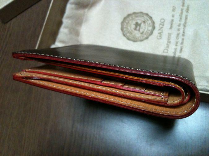 5.GANZO ShellCordovan 財布 切り目本磨きコパ