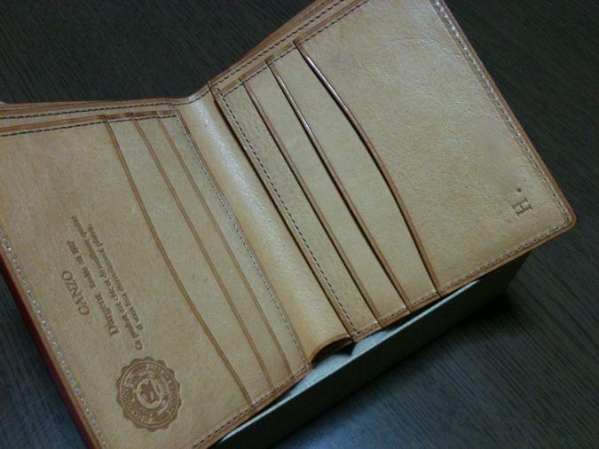 7.GANZO ShellCordovan 財布  内側ミネルバボックス