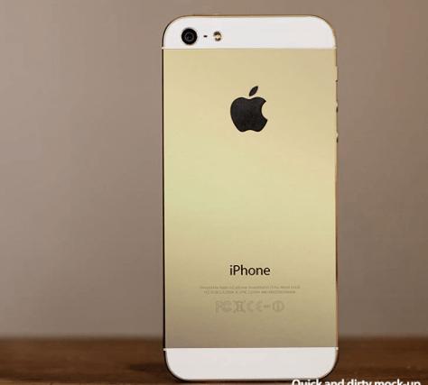 2.iPhone 5Sゴールド
