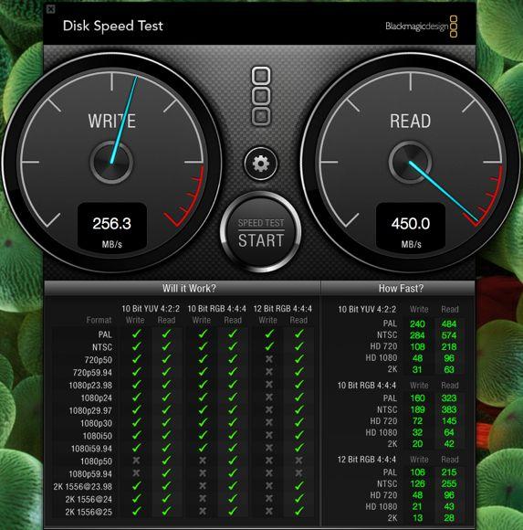 1.SSDスピードテスト
