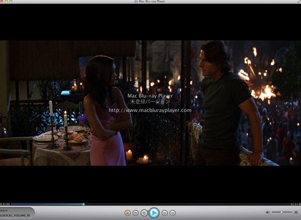 4.mac Blu-ray player再生