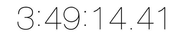 ストップウォッチ3時間49分