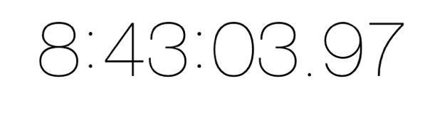 ストップウォッチ8時間43分