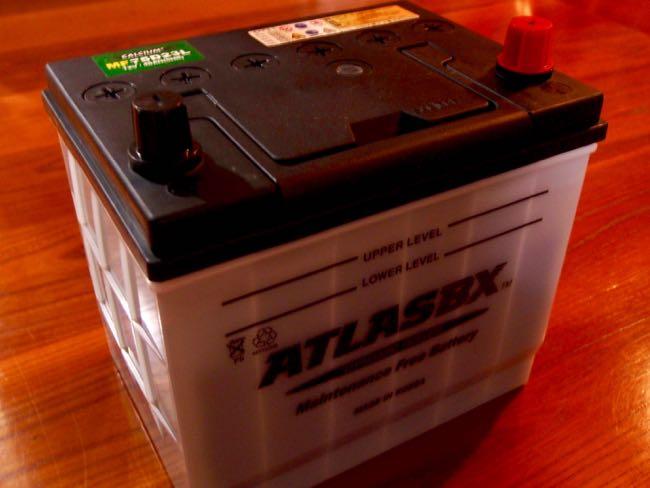 [0126] MR2復活計画 『その4』 評判の良い激安 バッテリーATLASBX(アトラス)を買ってみた