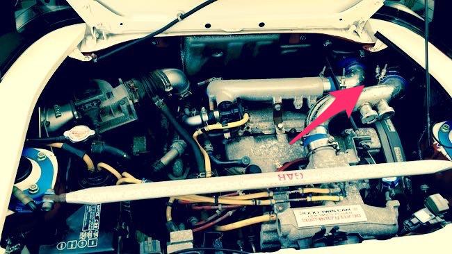 02 SW20_エンジン・インタークーラー冷却ファン位置