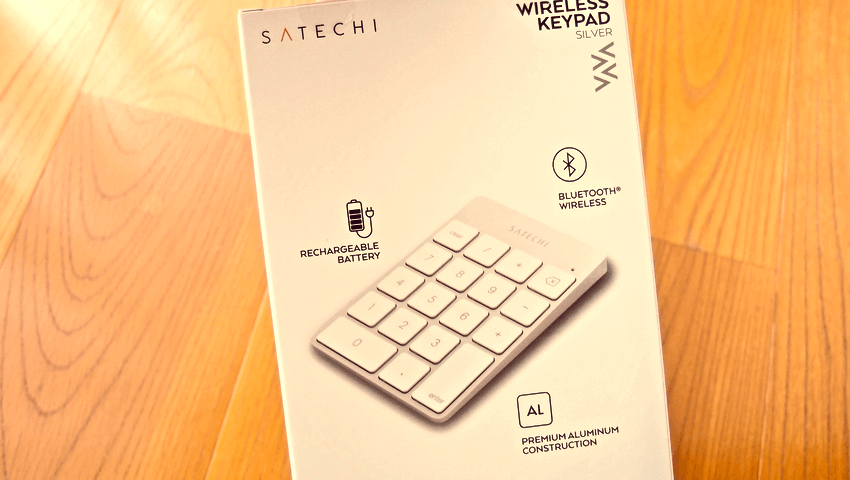 01 Satechi premum Aluminum Wireless Keypad Silver