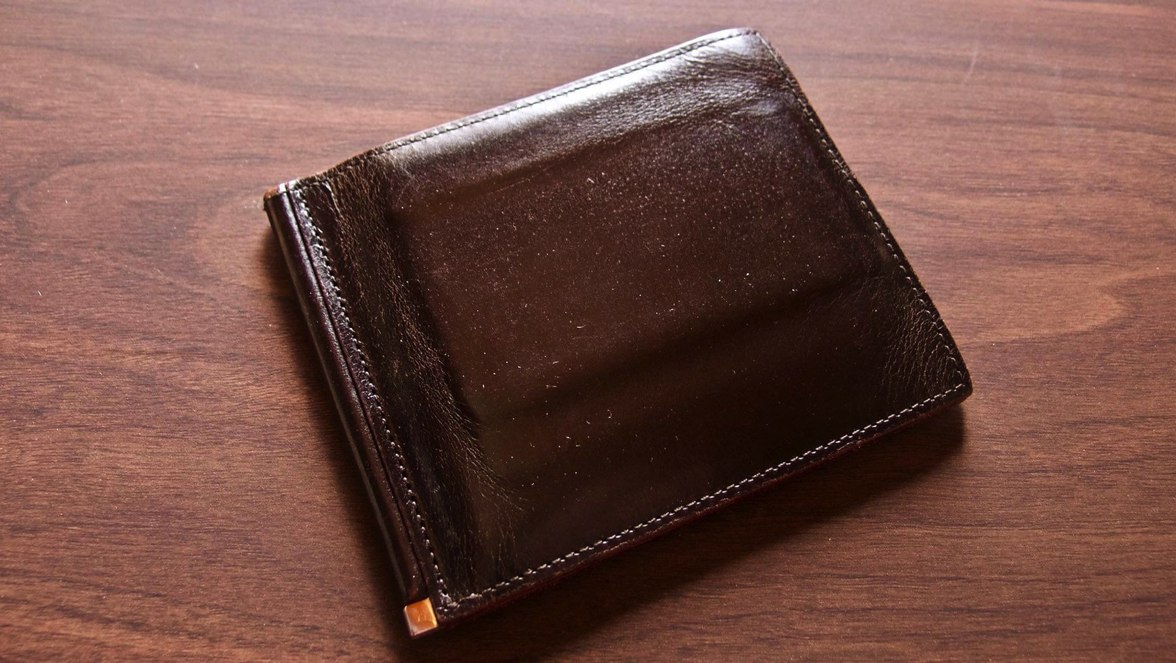 08 GANZO THIN BRIDLE Money clip Five year after aging