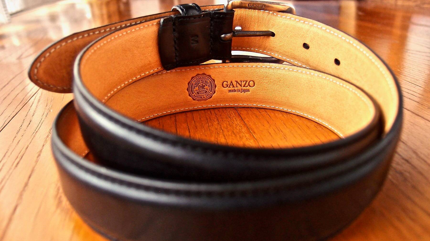 01 Ganzo leather belt BRIDLE