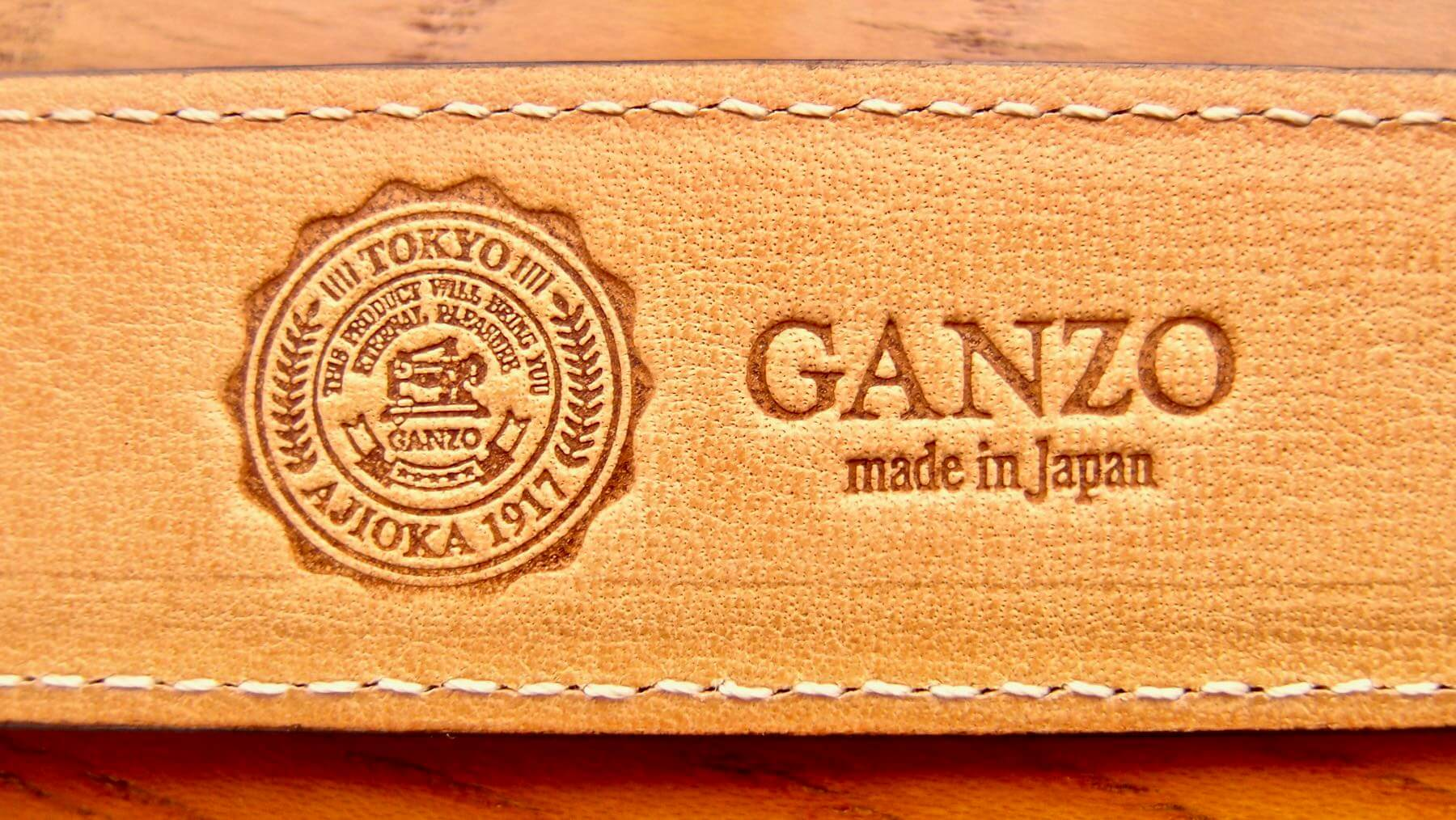 03 Ganzo leather belt BRIDLE LOGO
