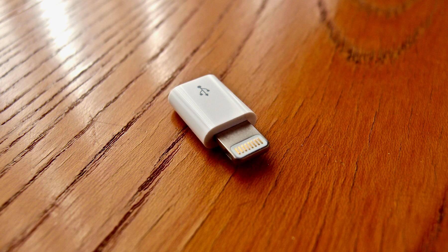 10 Apple Lightning MicroUSB Adapter