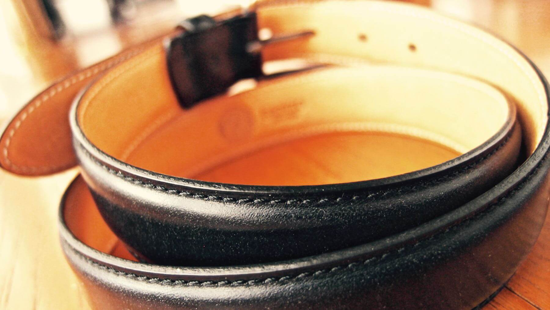 19 Ganzo leather belt BRIDLE