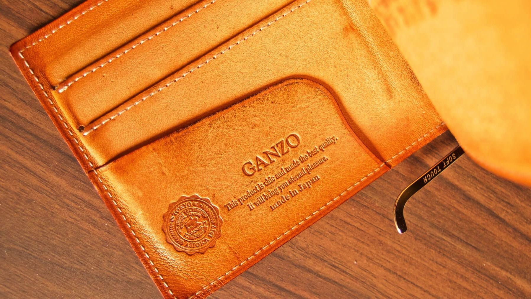 21 GANZO THIN BRIDLE Money clip Five year after aging