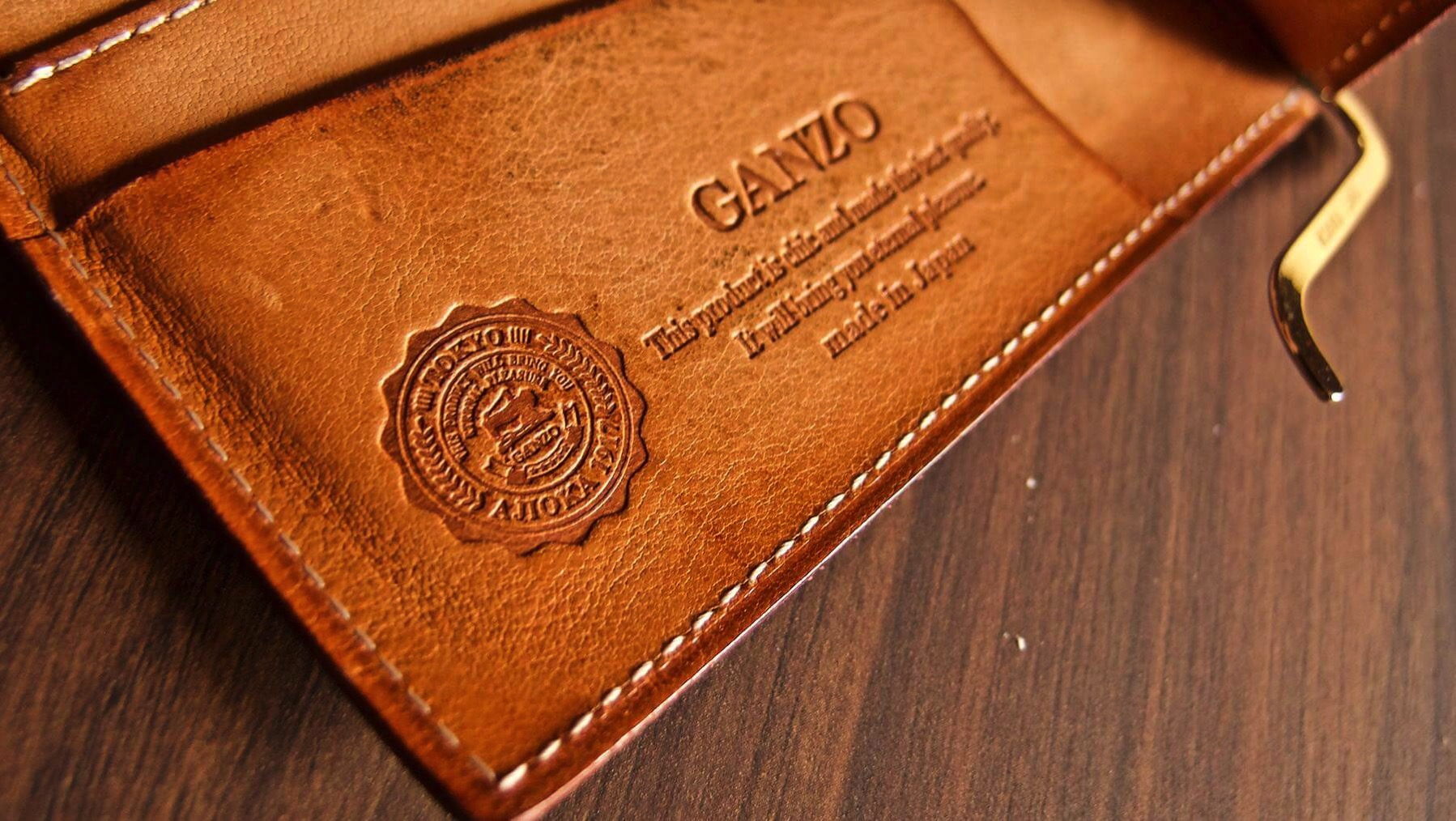 22 GANZO THIN BRIDLE Money clip Five year after aging