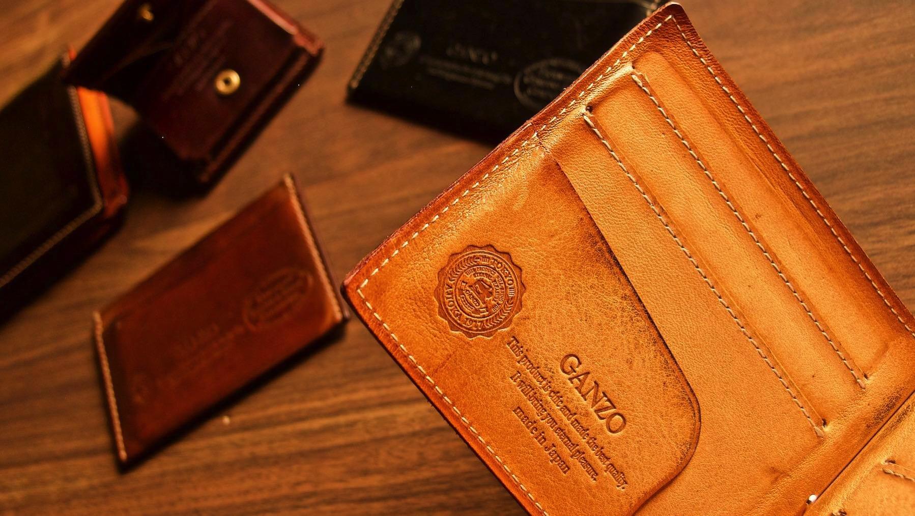 [0035]  至高の革財布 Ganzo 『その3』THIN BRIDLE マネークリップ 1年後と5年後