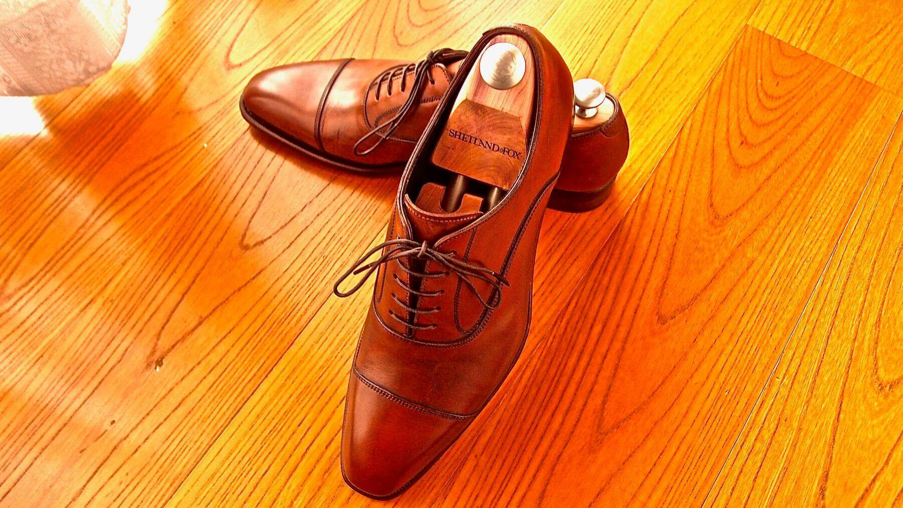 16 Shetlandfox Glasgow Leather shoes care