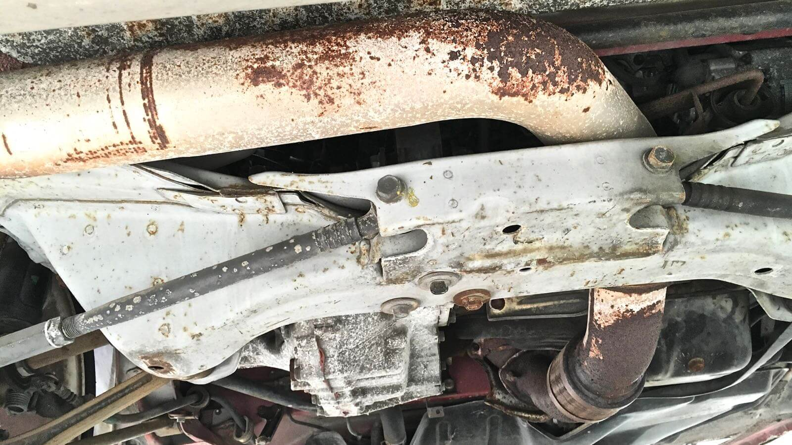 0142 MR2 Restore Plan  Part 15 12 SW20 Front pipe rust