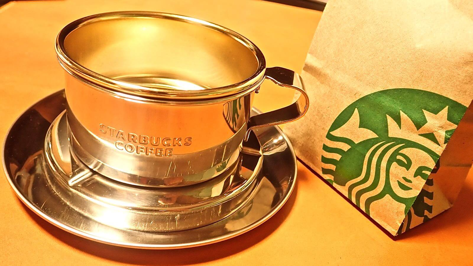 0008 Starbucks Stainless Steel Dripper  12