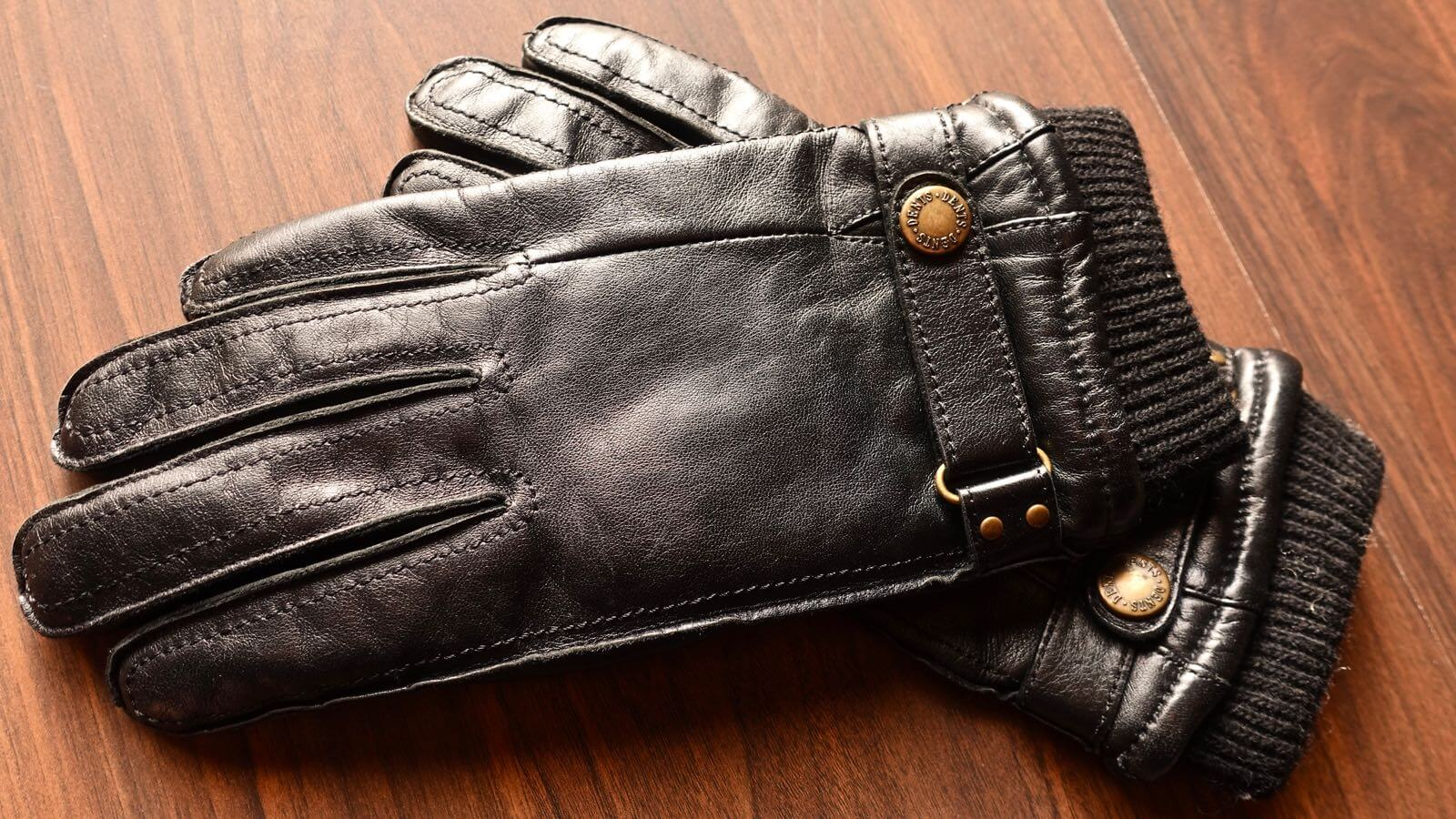 0055 DENTS men s leather gloves hair sheep 01