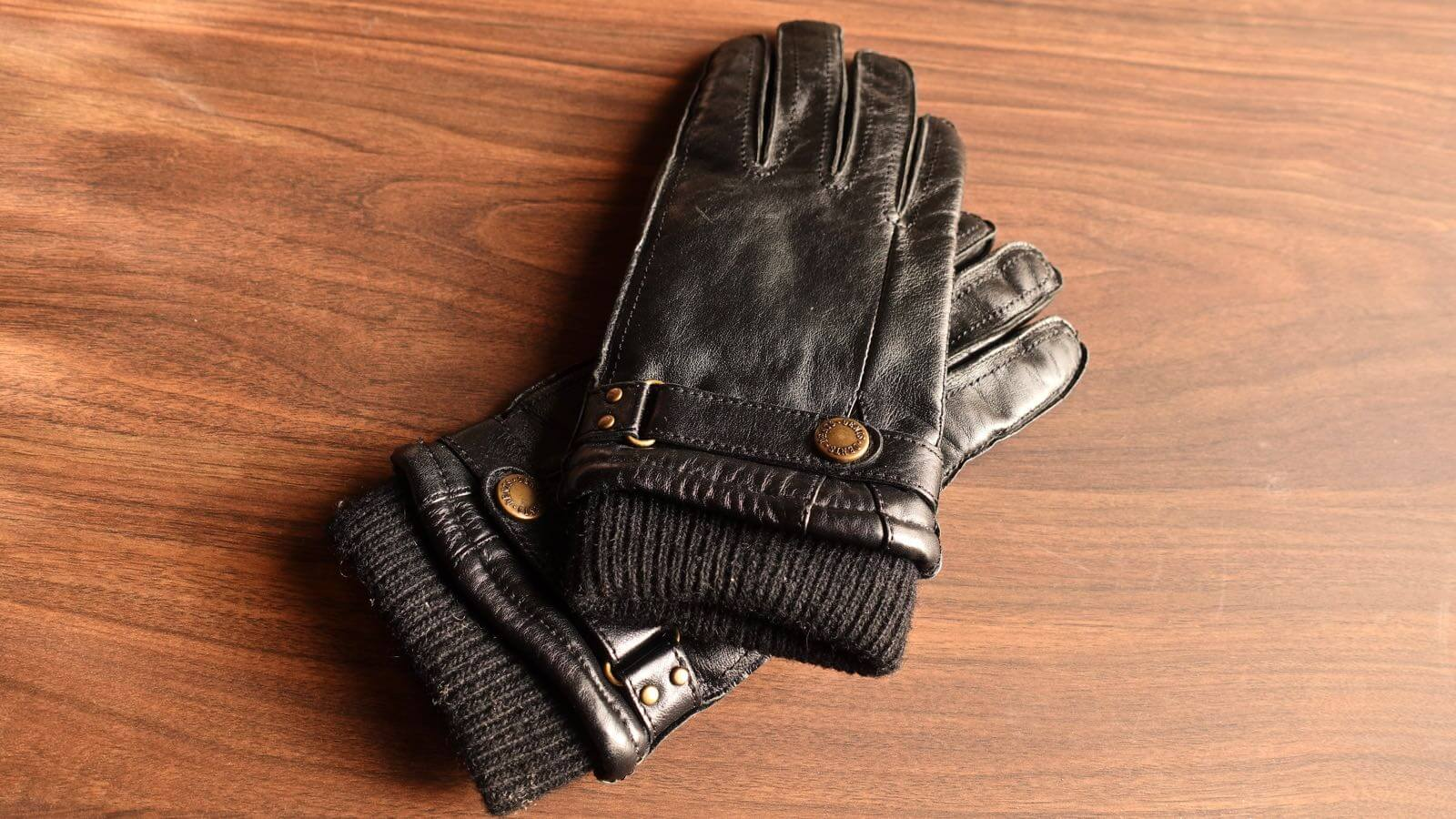 0055 DENTS men s leather gloves hair sheep 02