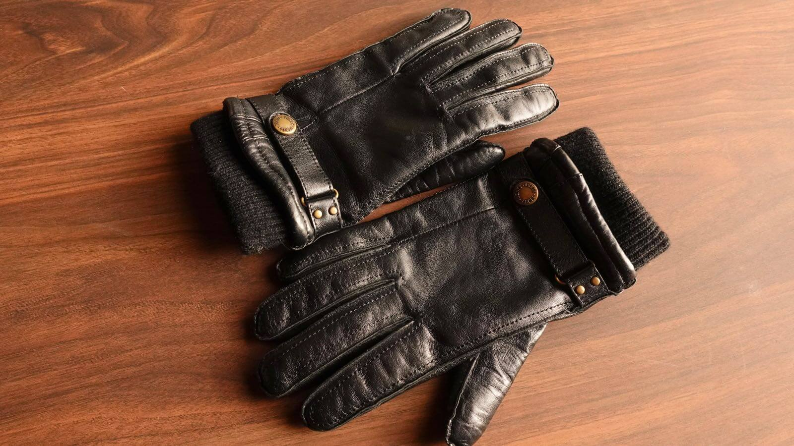 0055 DENTS men s leather gloves hair sheep 06