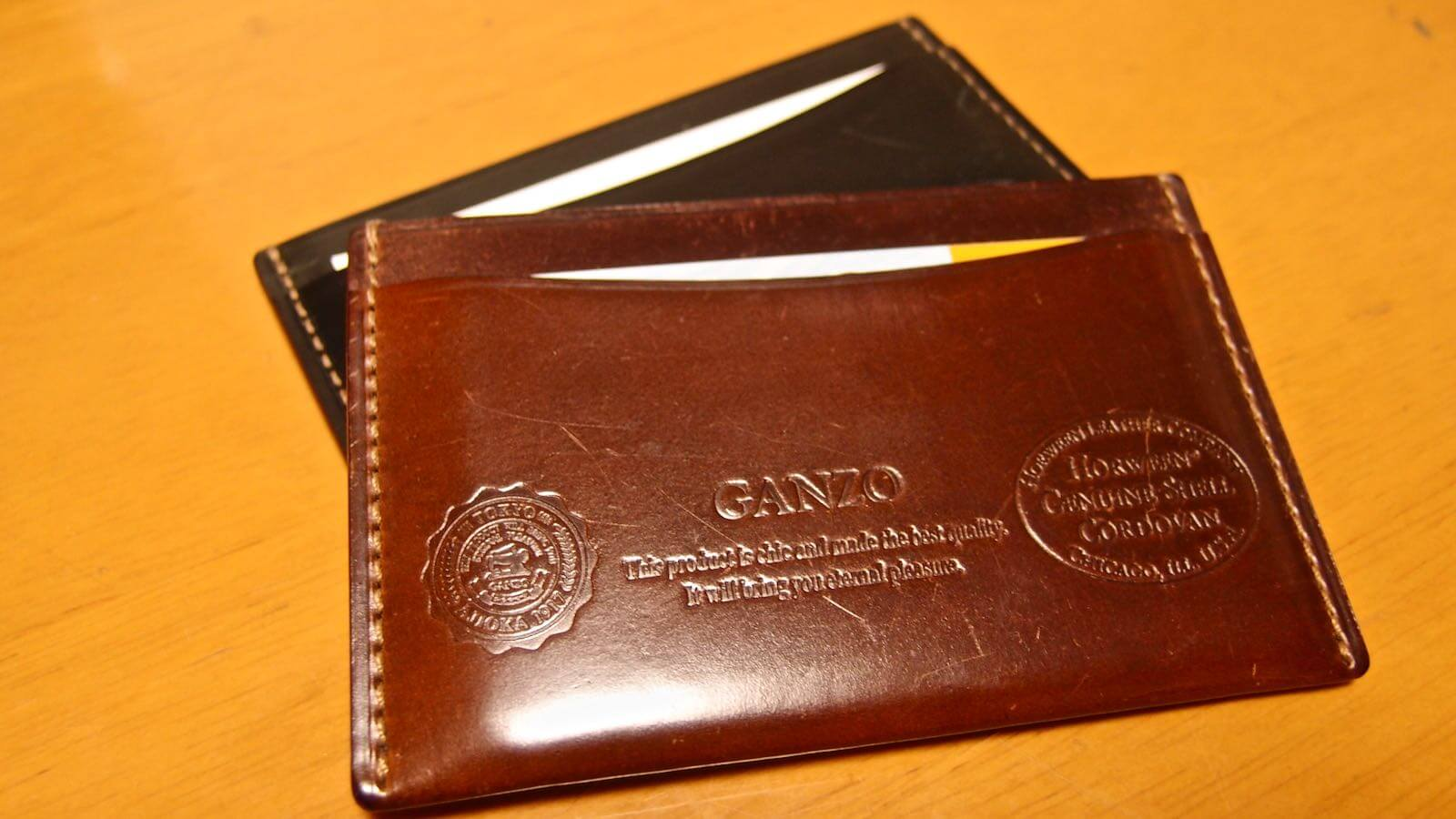 0036 Ganzo Shell Cordovan Business Card Holder 01