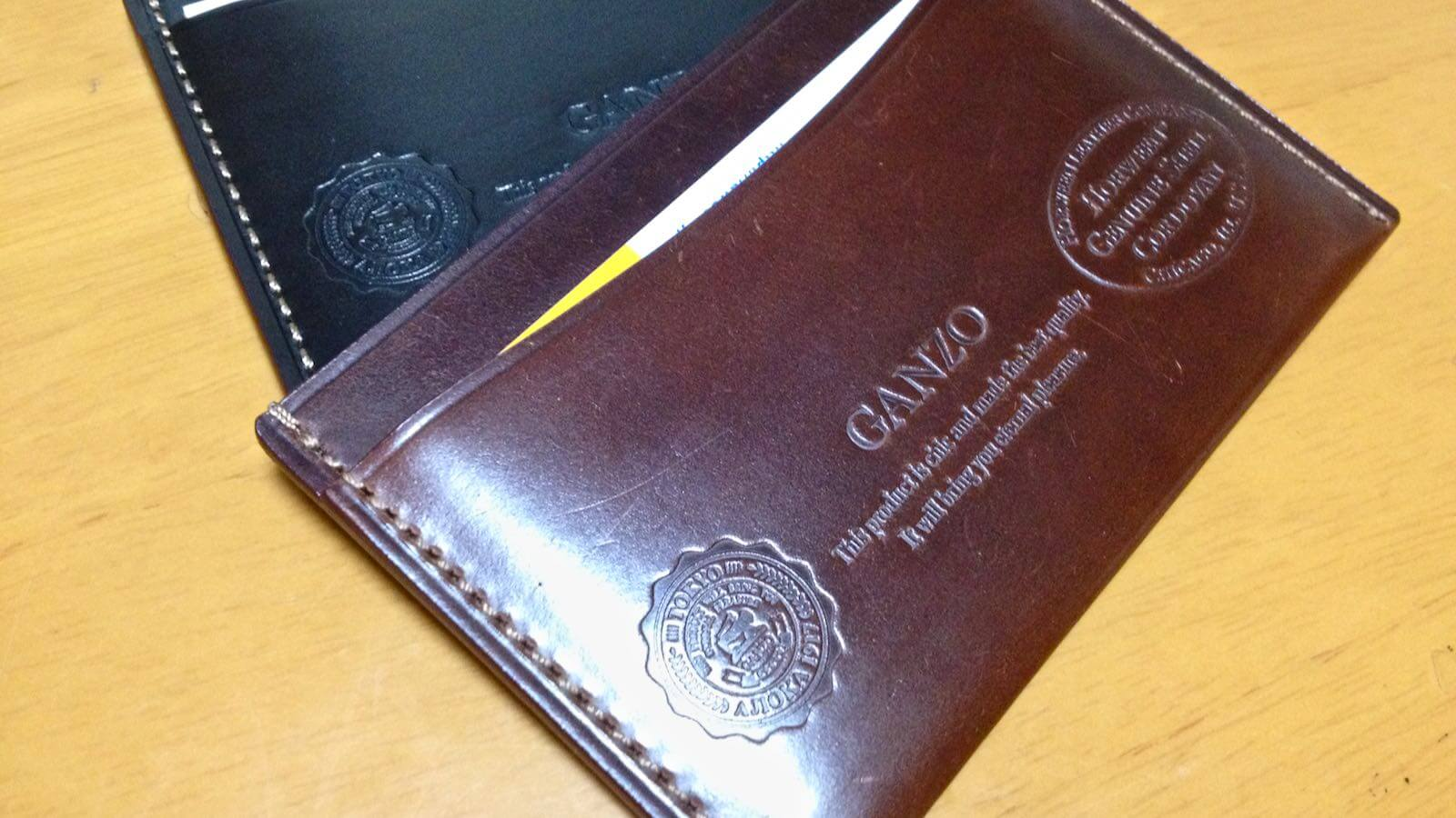 0036 Ganzo Shell Cordovan Business Card Holder 04