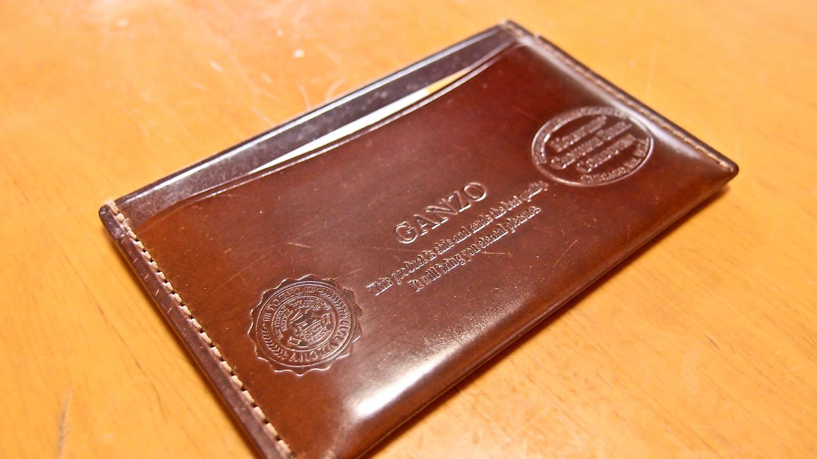 0036 Ganzo Shell Cordovan Business Card Holder 08