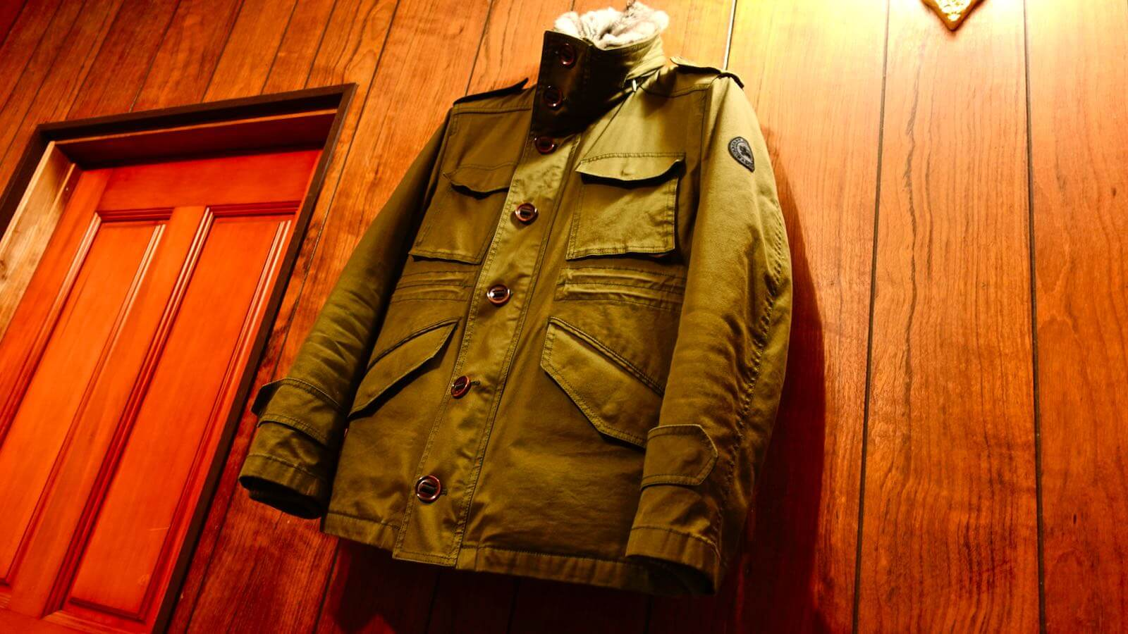 0111 Burberry Black Label M65 Military Jacket 01