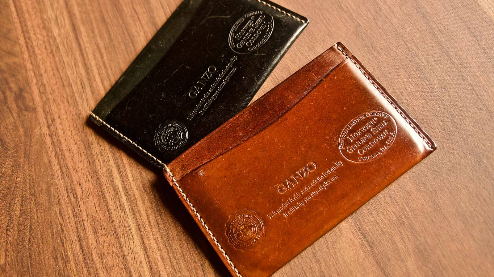 0037 Ganzo Shell Code Bank Business Card Holder 5 Years Aging 01