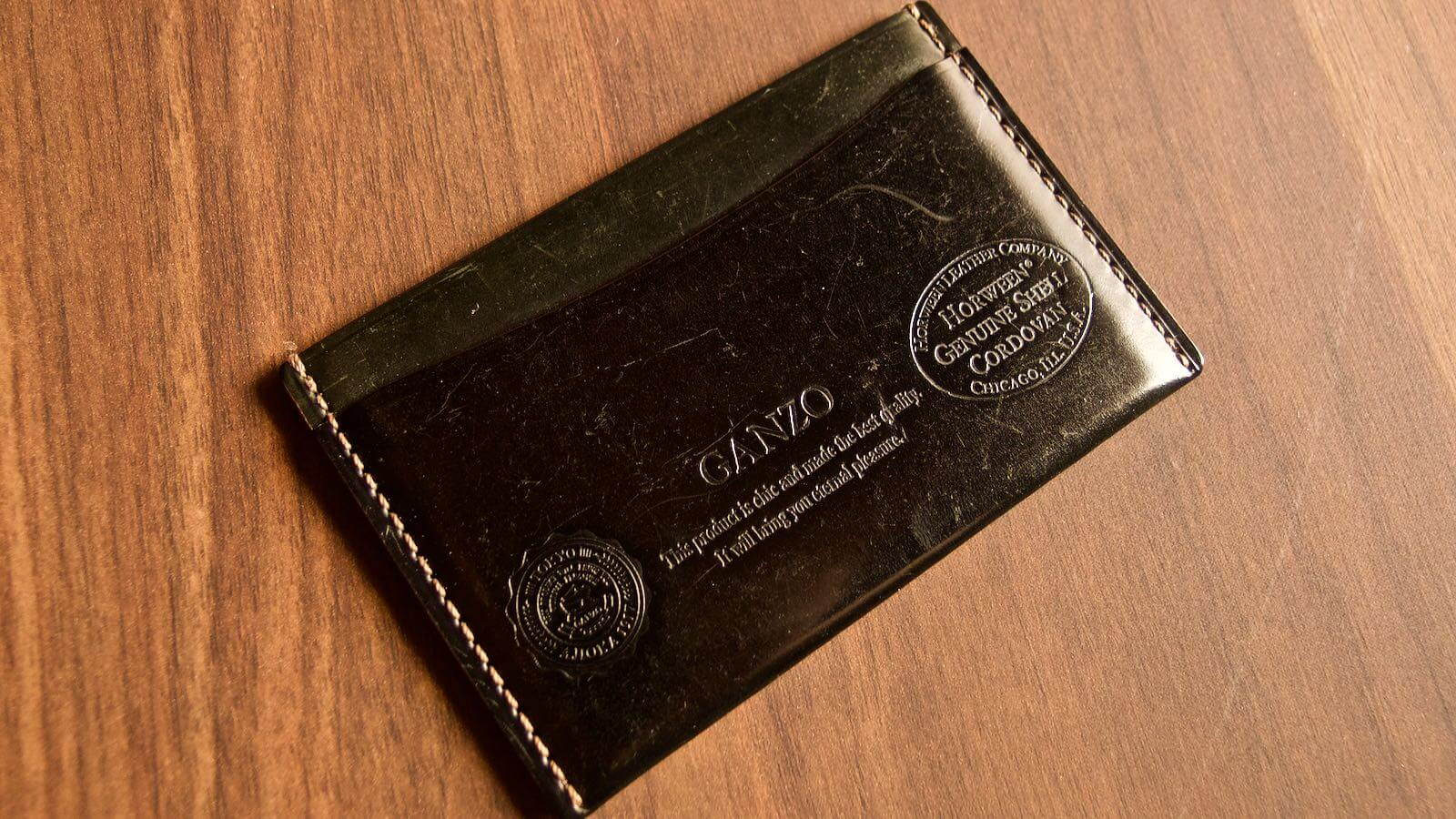 0037 Ganzo Shell Code Bank Business Card Holder 5 Years Aging 02