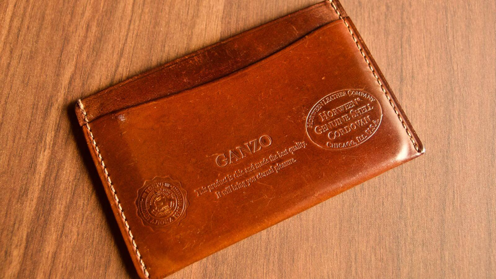 0037 Ganzo Shell Code Bank Business Card Holder 5 Years Aging 08