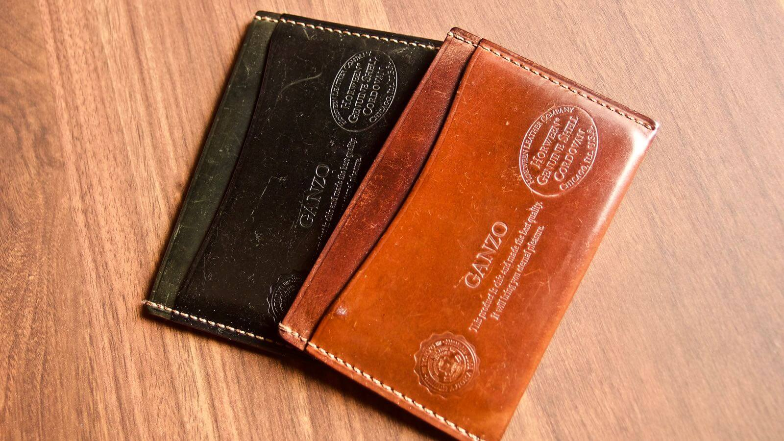 0037 Ganzo Shell Code Bank Business Card Holder 5 Years Aging 15