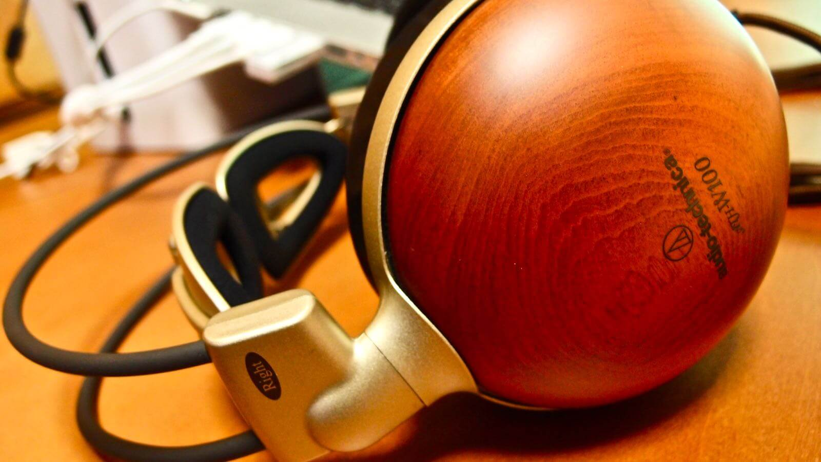 0078 After 10 years of Audio Technica Wooden Headphones ATH W100 10