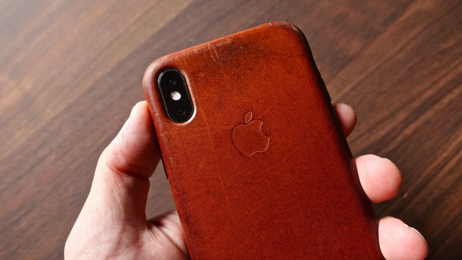 0215 iPhone Leather Case Aging 01 A year and a half later