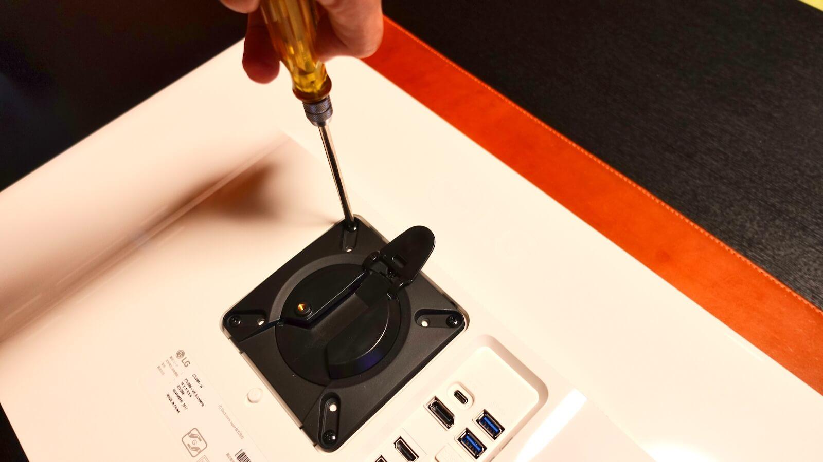 HermanMiller FLO monitor arm VESA mount mounting