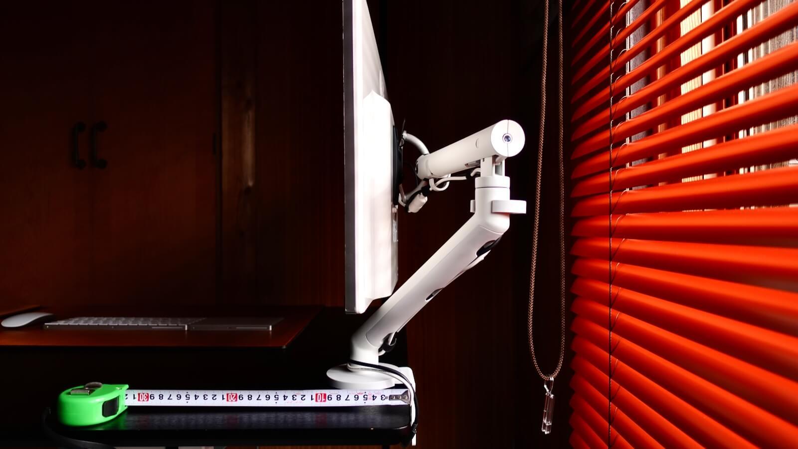 Herman Miller Flo Monitor Arm Operating Range Depth 10 cm