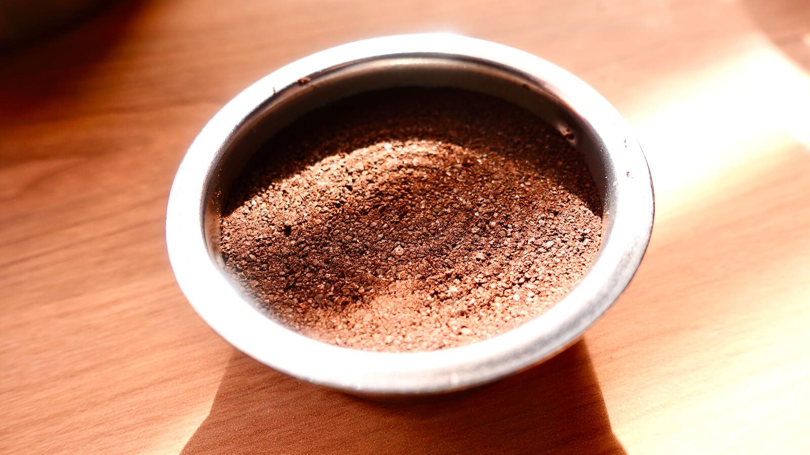 Delonghi espresso filter after tamping