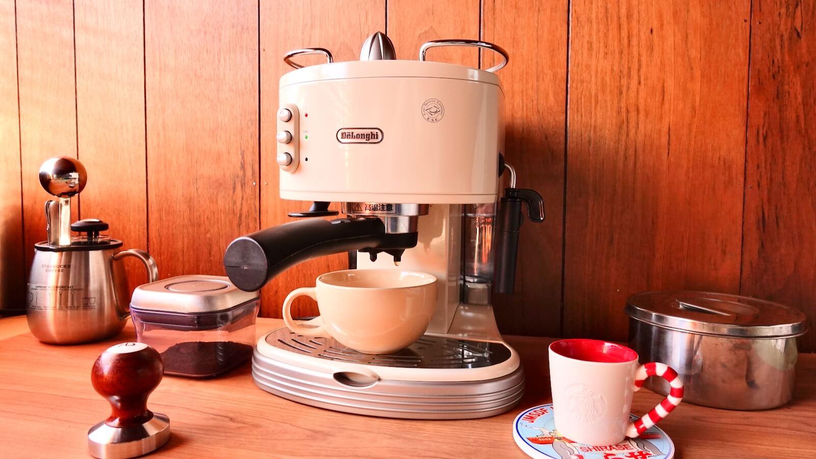 Delonghi espresso machine ECM300J with cup set