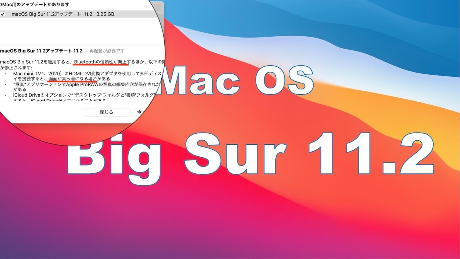 Capture updates for macOS Big Sur 11.2