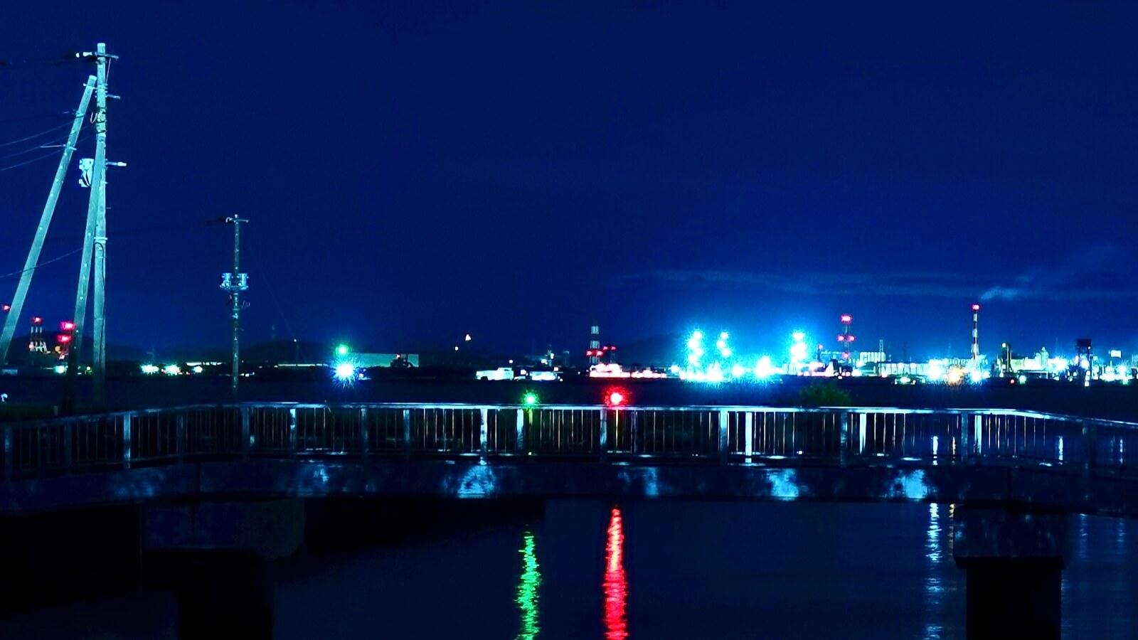 Egawa Beach at night taken with RX100M5A