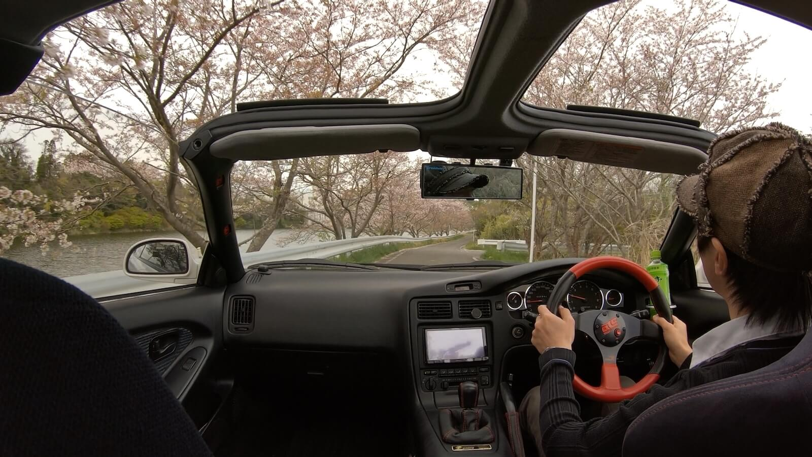Photograph of Gopro7 in-vehicle driving on MR2