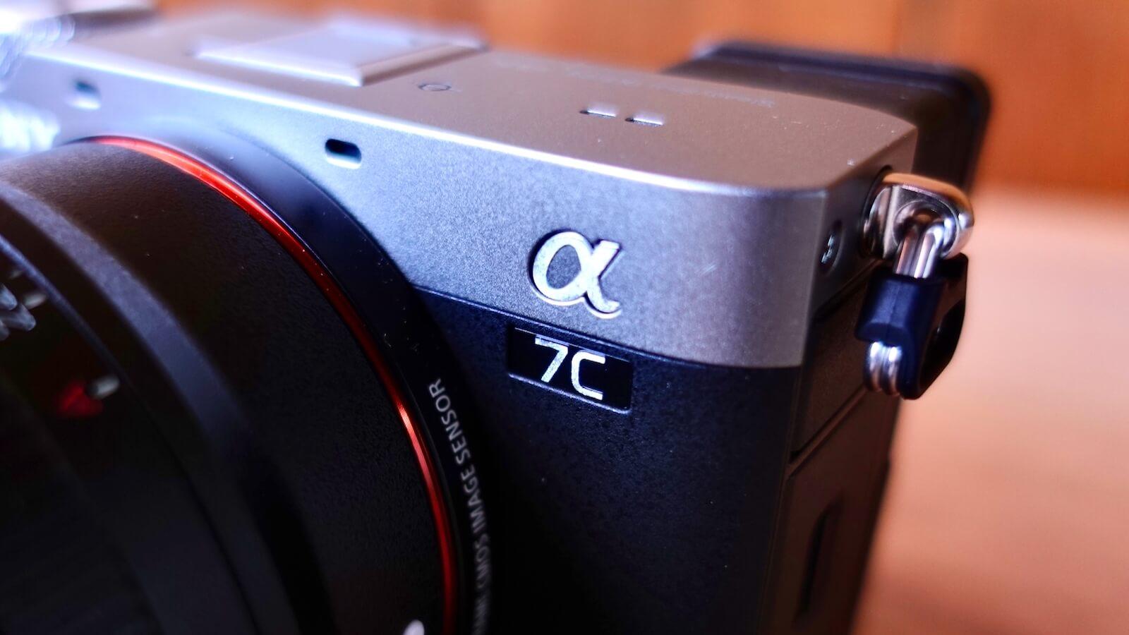 α7c camera body logo enlarged photo