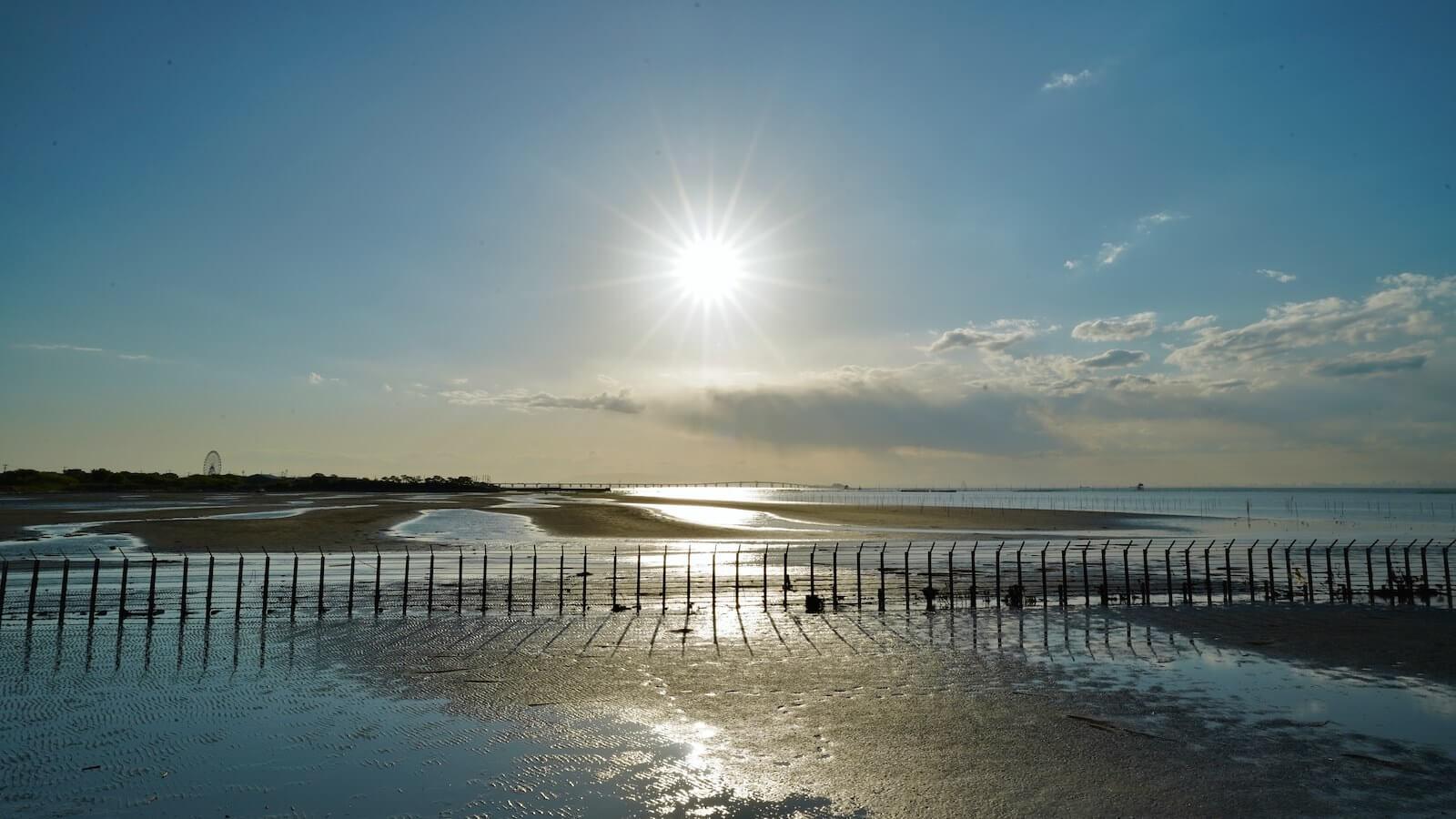 Kaneda coastal photo with the tide
