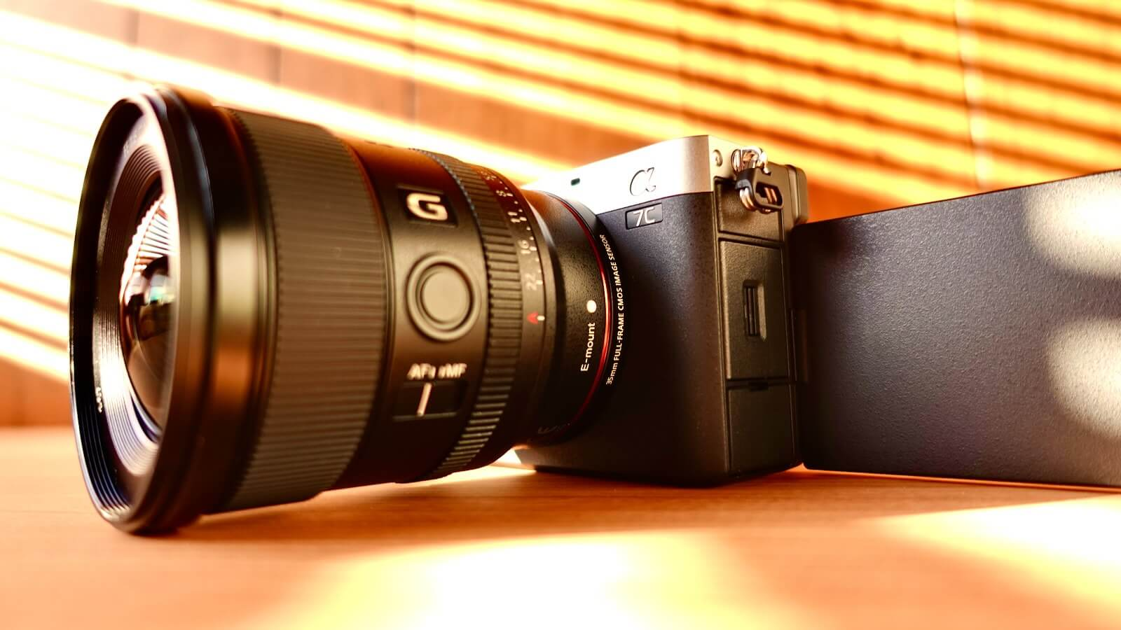 Photo of sony A7c with SEL20F18G attached
